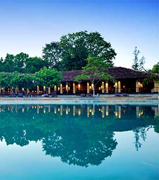 The stunning pool & the exterior of Chaaya Village Habarana