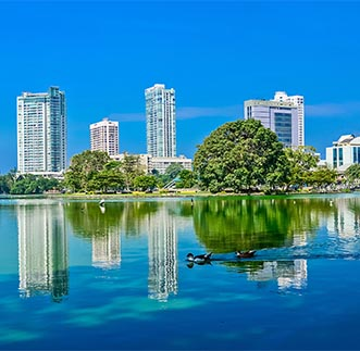 Amazing capture of Beira Lake & Colombo city view