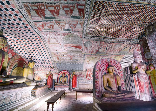 The sacred Dambulla Cave & ornate works of art