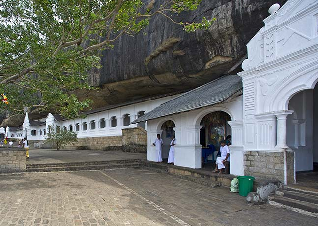 Entrance to the archaeological wonder of Dambulla Cave Temple