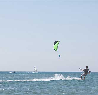 Enjoying the thrills of Kite Surfing in Kalpitiya
