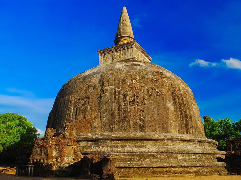 The Kiri Vehera at the ancient kingdom of Polonnaruwa, a shrine for sacred relics