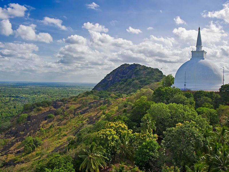 The pristine & sacred Mahaseya stupa atop the Mihintale mountain