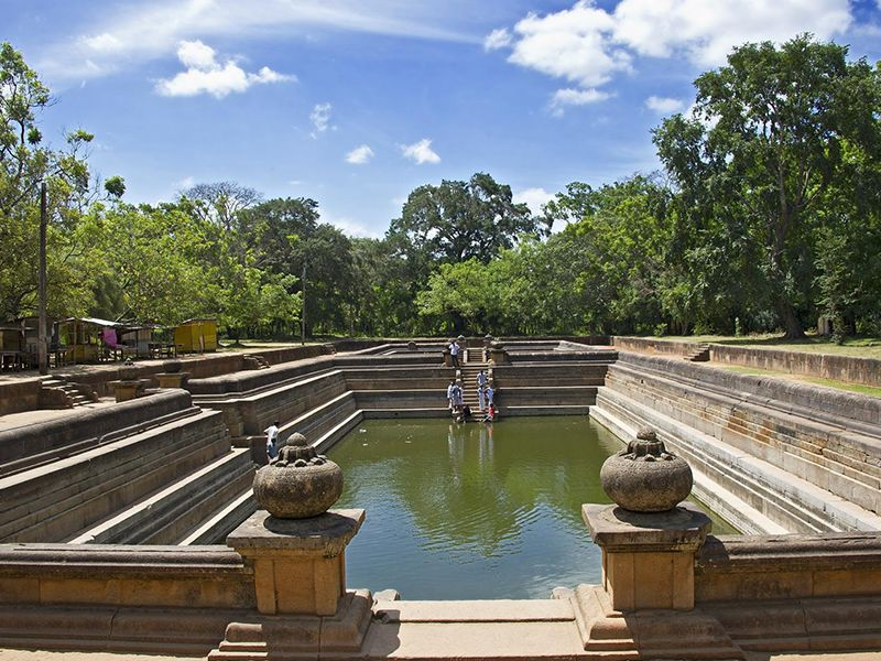The Twin ponds in the ancient kingdom of Anuradhapura