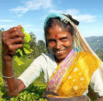 The radiant smile of a tea plucker in Hill-country