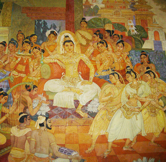 Murals at Bellanwilla Temple – Evening Tour in sri lanka