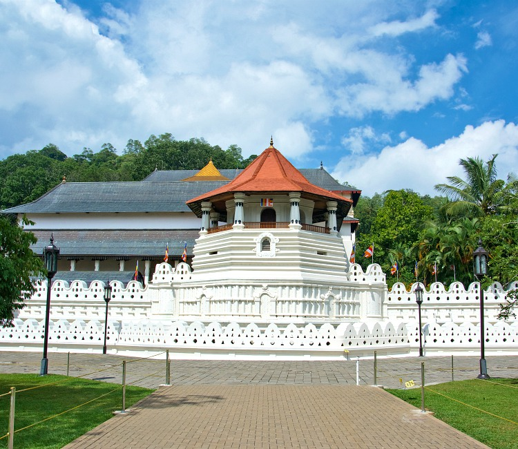 The Temple of the Tooth in Sri Lanka